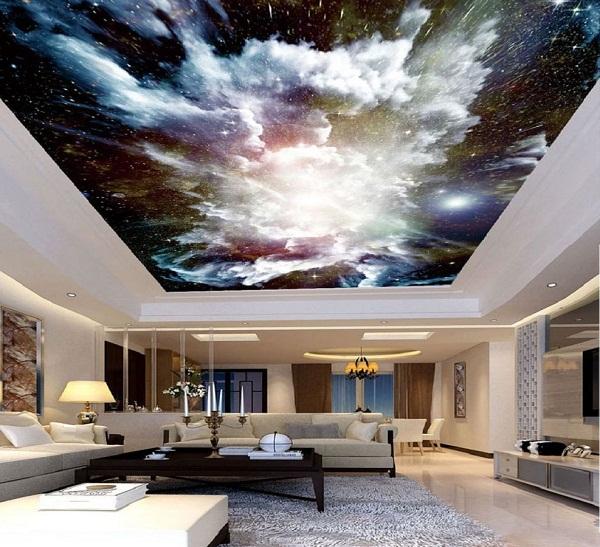 سقف کششی زیبا در دکوراسیون داخلی