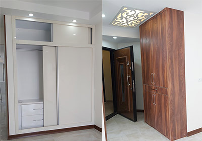 طراحی کمد و جاکفشی در بازسازی خانه