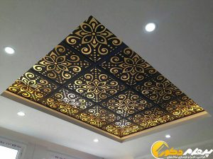 سقف cnc زیبا در پذیرایی