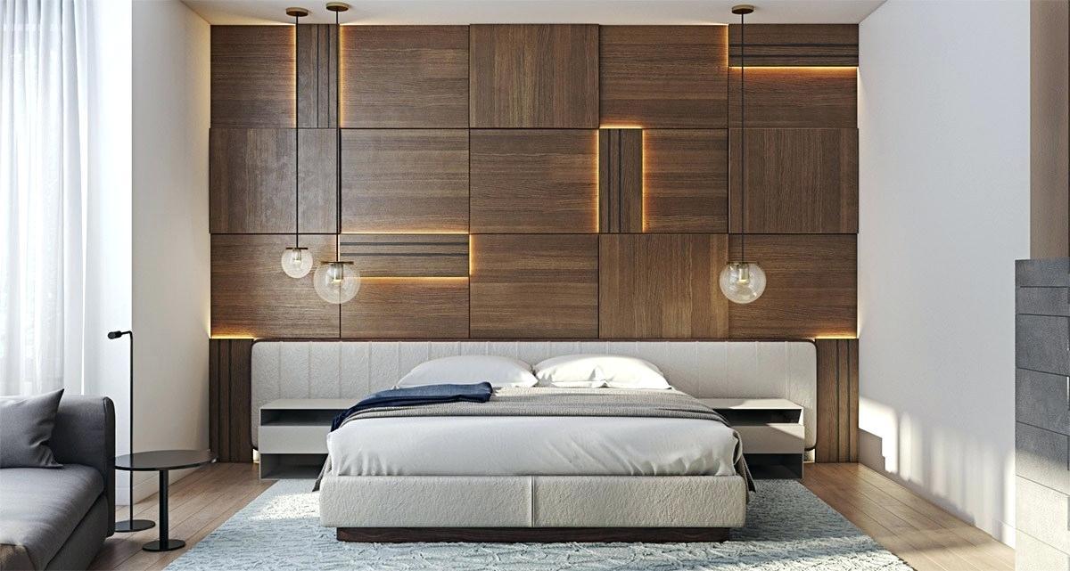 دکور چوبی در اتاق خواب