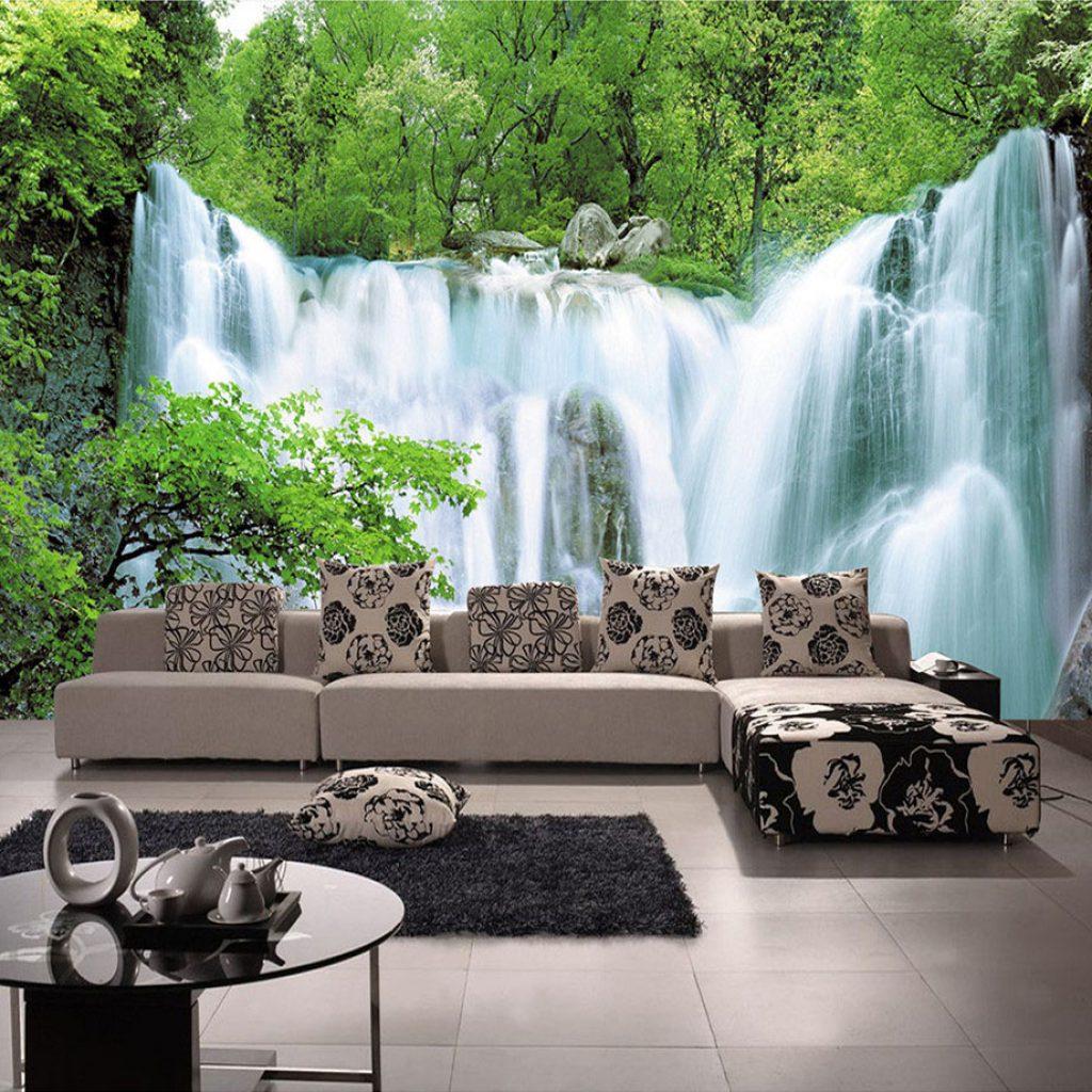 کاغذ دیواری طرح آبشار