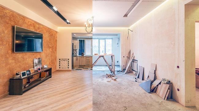 قبل و بعد از بازسازی خانه