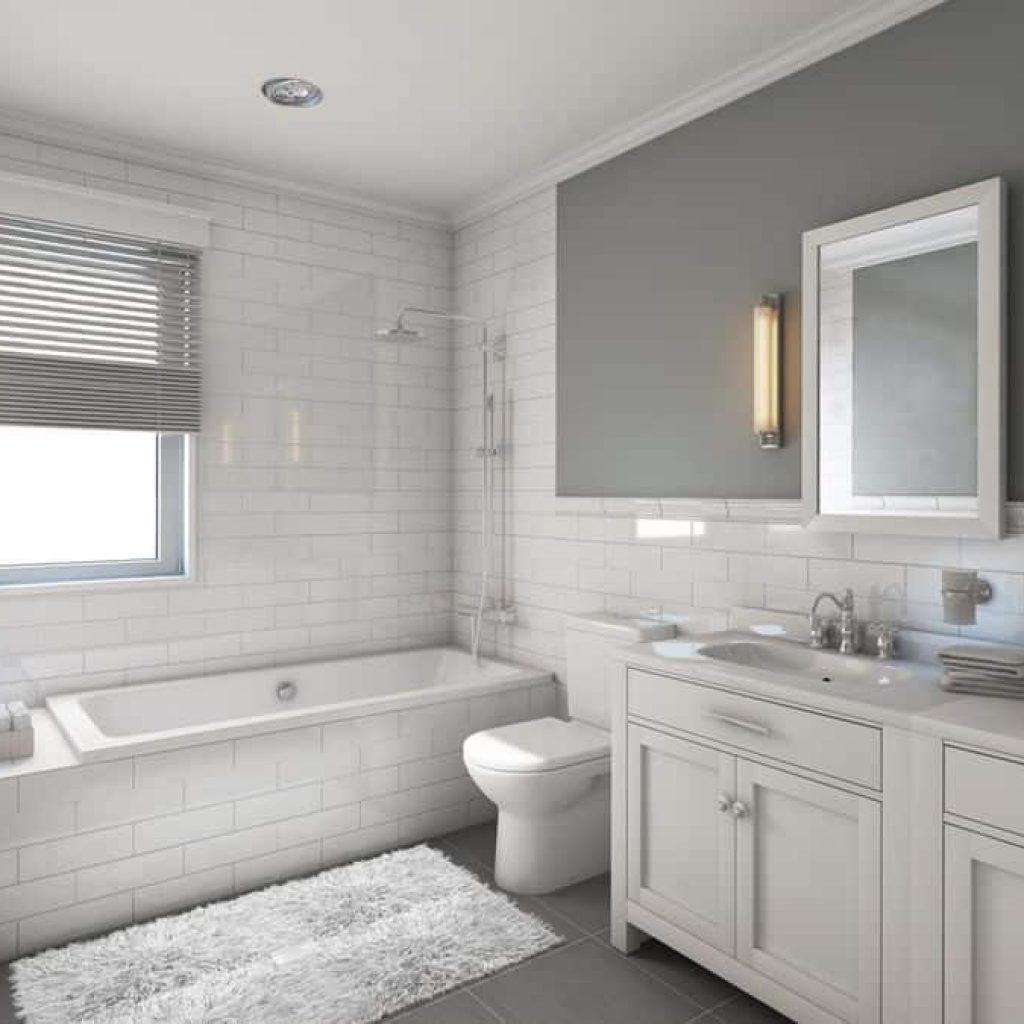 طراحی حمام سفید