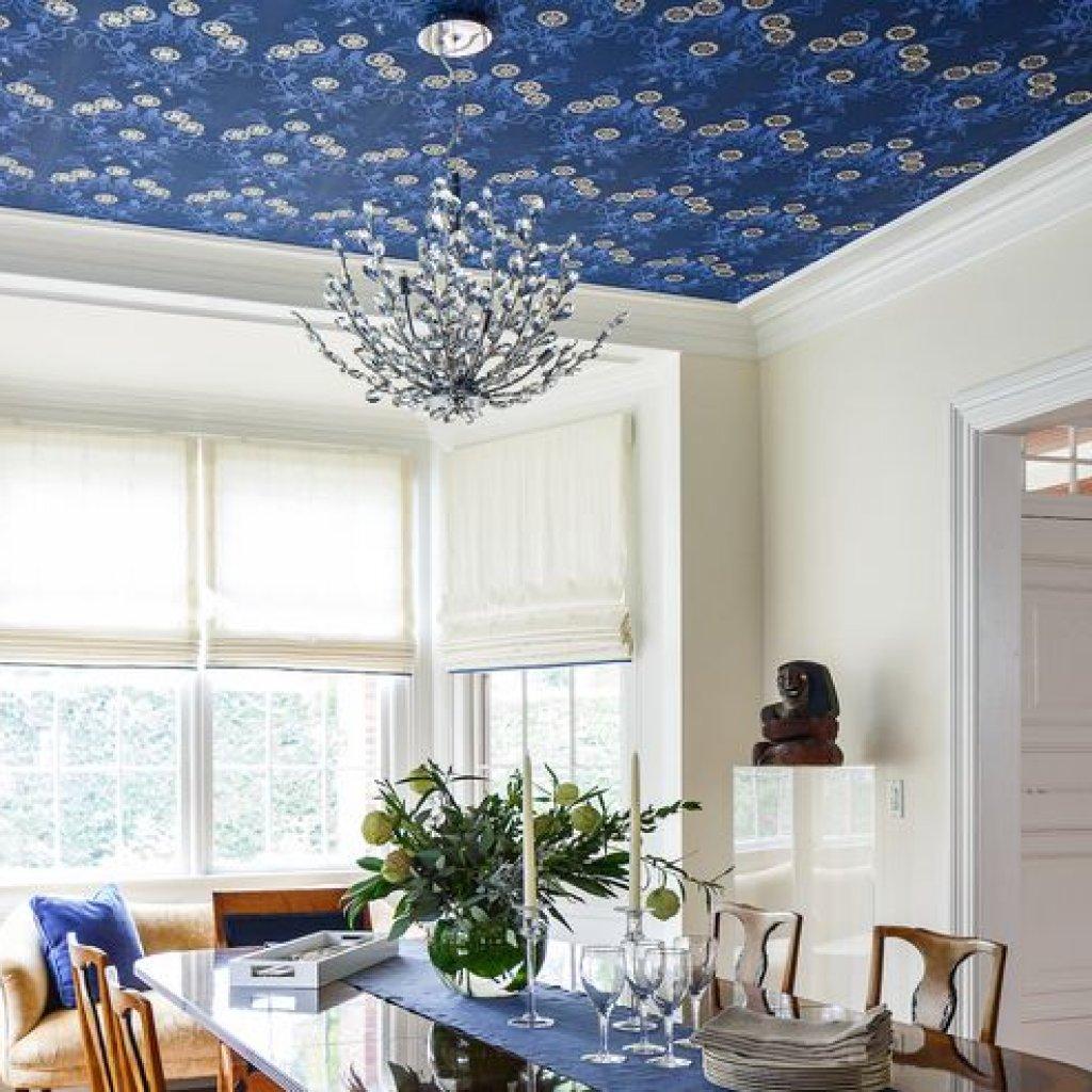 کاغذ دیواری سقفی در اتاق ناهار خوری