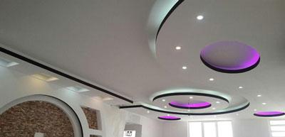 یازسازی سقف منزل دایره ای با نورپردازی