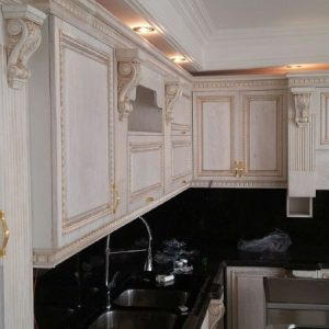 کابینت آشپزخانه ممبران منبت کاری شده زیبا