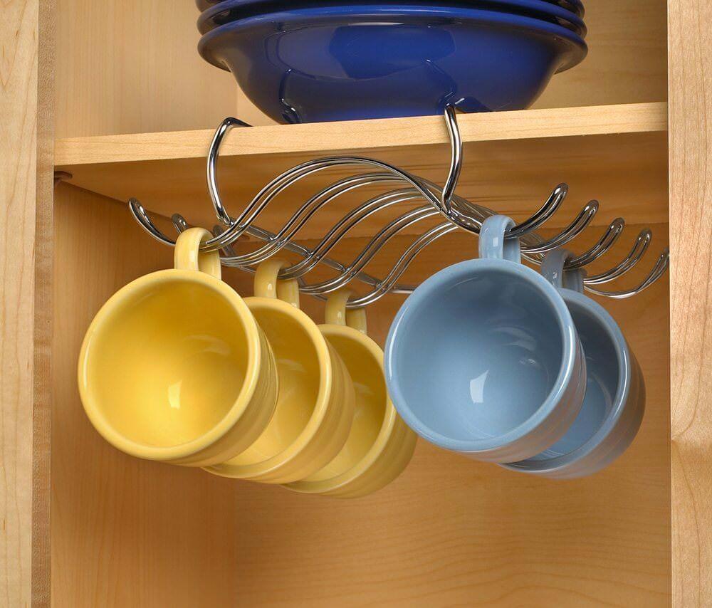 نحوه چیدن لیوان ها در کابینت