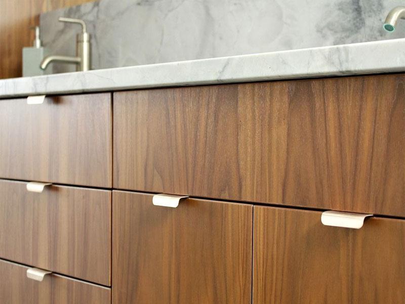 نمونه عکس دستگیره مخفی کابینت آشپزخانه