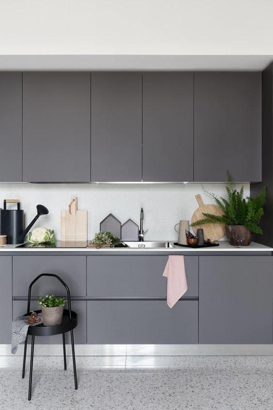 رنگ کابینت جدید طوسی و یا خاکستری
