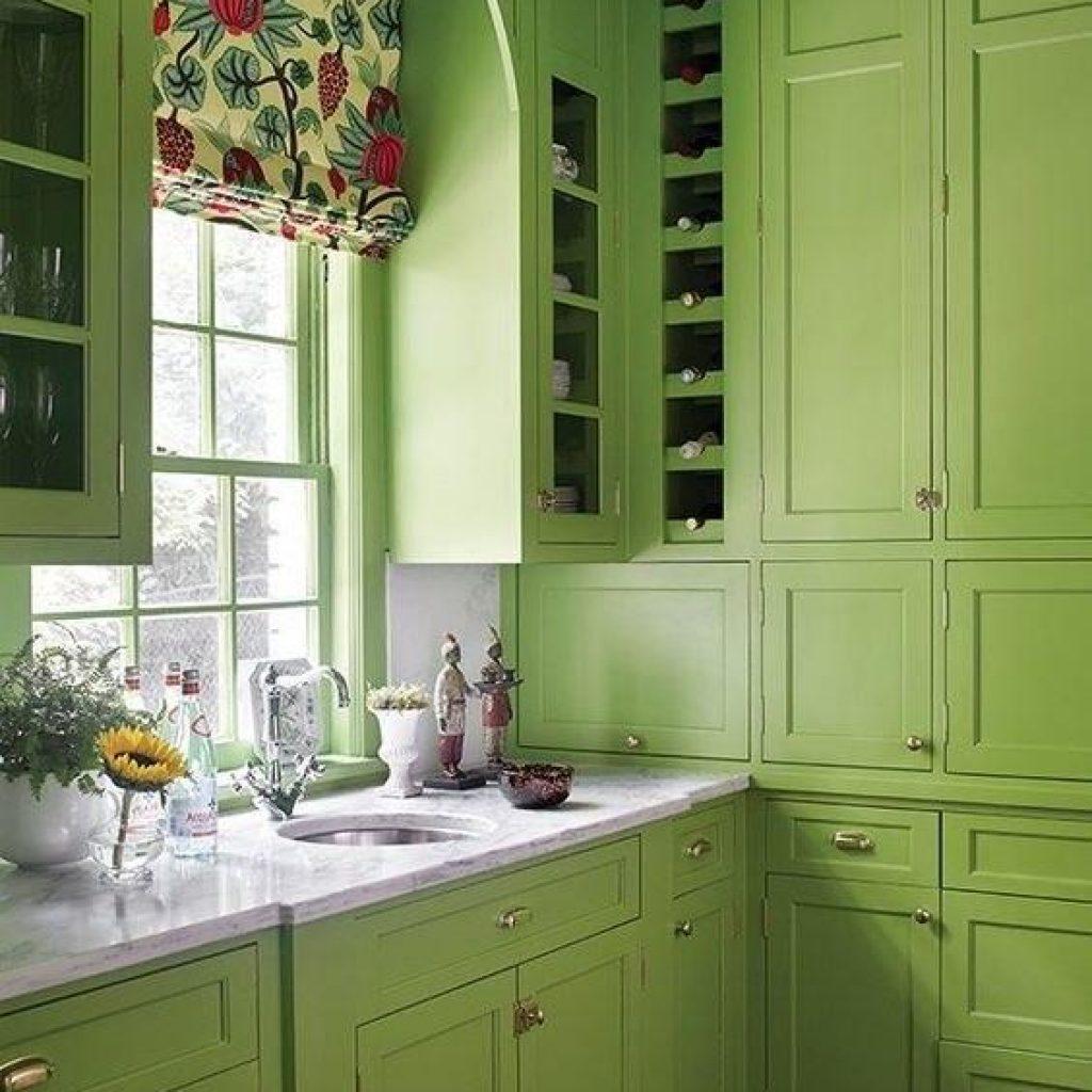 رنگ کابینت جدید سبز یشمی