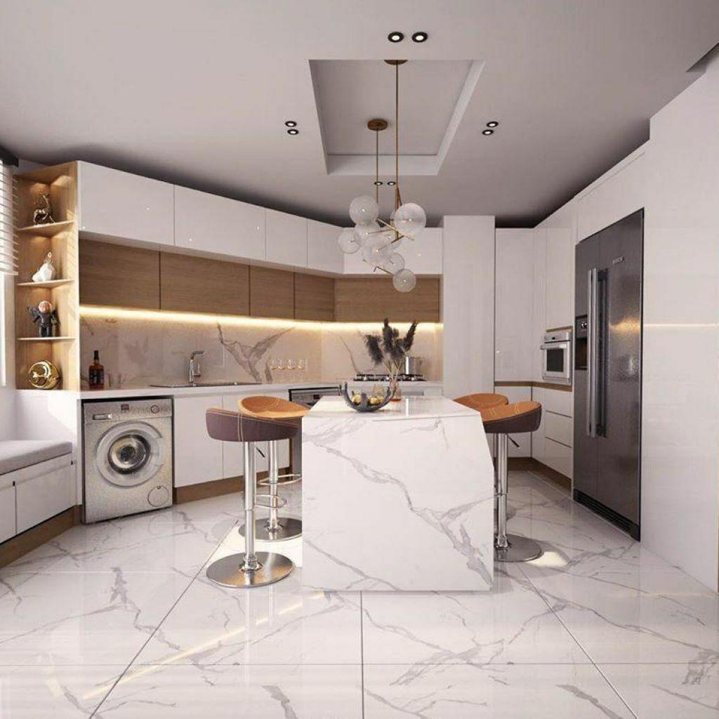 6 طرح جزیره آشپزخانه و کاربرد آن