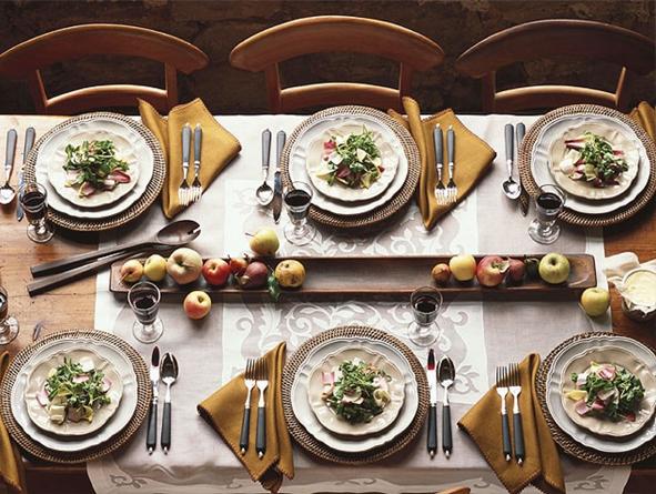 چیدمان میز شام