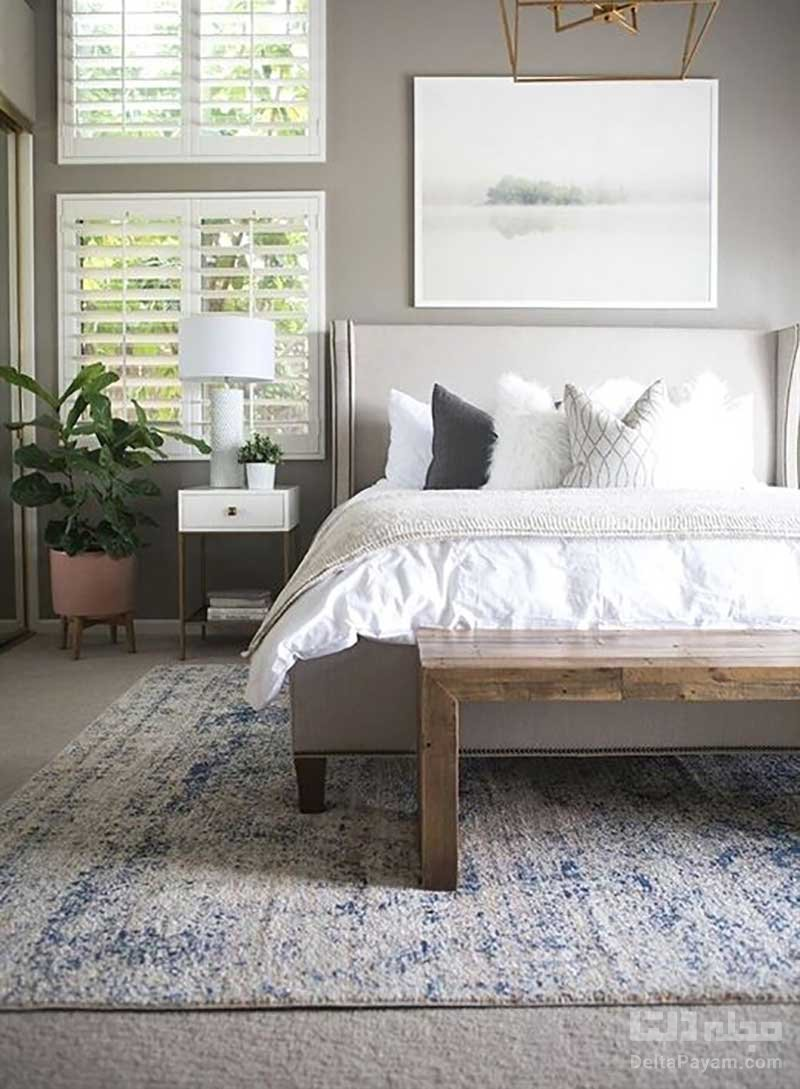 چیدن فرش اتاق خواب